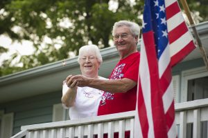 Margot and Roger Mayhew enjoy celebrating the Fourth of July at their home in Gretna.